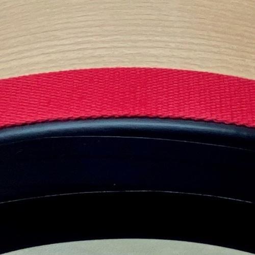 Baumwollband, rot